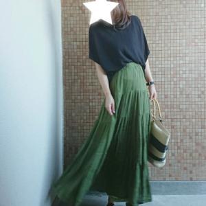 ママコーデ*半額になってた秋色ティアードスカートで♡観劇用にアレをGET♪