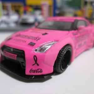 "MINI GT 54 1/64 LB★WORKS Nissan GT-R ""Wear It Pink"" Breast Cancer Awareness"