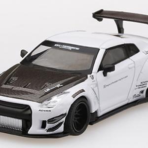 予約受付中!!MINI GT 1/64 LB★WORKS Nissan GT-R R35 タイプ2 リアウイング バージョン3(ホワイト)