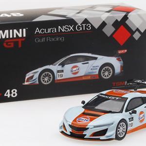 ミニカー発売情報 MINI GT 1/64 Acura NSX GT3 ガルフレーシング 北米限定