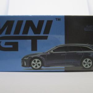 MINI GT 186 1/64 アウディ RS6 アバント ナバーラブルーメタリック
