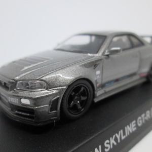 ファミリーマート 京商 1/64 No.5 日産 スカイライン GT-R(R34 NISMO CRS Ver.)