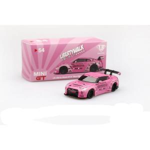 販売中!!MINI GT 1/64 LB★WORKS Nissan GT-R R35 タイプ1 リアウイング バージョン1 Wear IT Pink マレーシア限定
