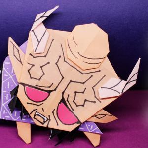 【折り紙】鬼滅の刃・半天狗の作り方 origami kimetunoyaiba