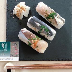 川の駅宗麟大橋店:「夢ニ家さんの自家製棒寿司」とか「シャインマスカットソフト」とか。