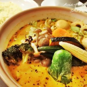 """【札幌・狸小路】Wスープ(鶏ガラ・豚骨+和風だし)のスープカレー """"キング セントラル店"""""""