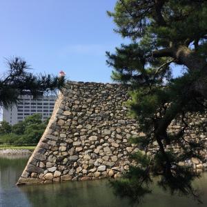 上空から見る高松城🏯と三越のライオンなど