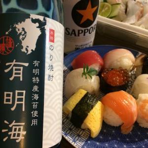 『驚🔵海苔焼酎 VS ⚫雲海(そば焼酎)の黒