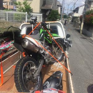 KLX125ccの後輪が引っ張れる感じが…大阪・寝屋川市の遺品整理士/便利屋銀さん