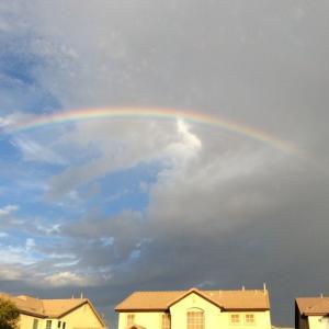 一緒に見た虹