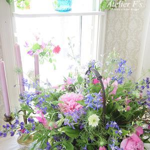 道の駅で買った花を素敵にアレンジする方法【フラワーアレンジメント教室 西宮市】