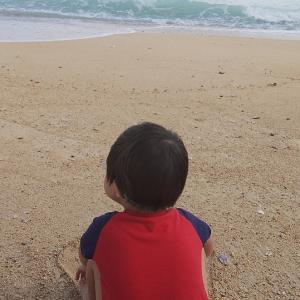 今季、初海水浴♪