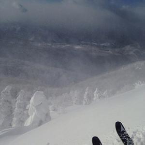 感覚派の深雪の滑り方