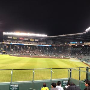 阪神VS中日。甲子園野球観戦
