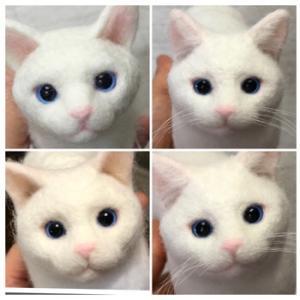 白猫エルちゃん、やっと完成(^_^)
