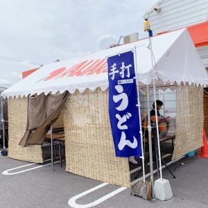 駐車場のテントうどんと侮るなかれ・・・                  丸亀市「ゆい製麺所」