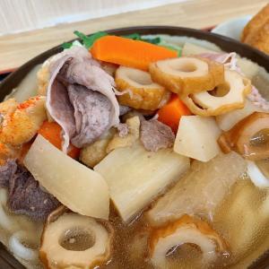 お肉いっぱいのシッポク♪                          高松市「上田製麺所」