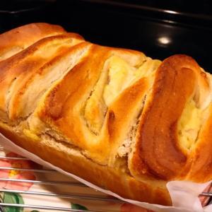 カスタードクリーム折込パン