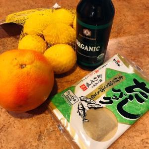 フロリダでポン酢を作る♪~レモン&グレープフルーツ