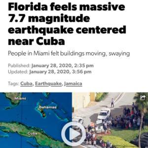 キューバ付近で地震!?