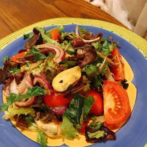ムール貝のパスタ&サラダ~スーパーのデリバリー
