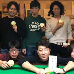 Kansai Tri Cup FALL 2019はWe love billiard in kyoto(ビリヤードY's・京都)が優勝!