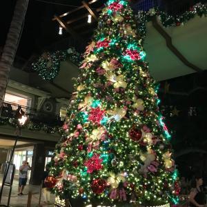 ロイヤルハワイアンセンターのクリスマスツリー