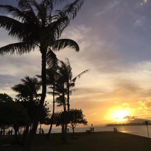 ハワイ・サンセット画像