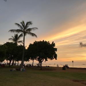 ハワイサンセット・空の変化