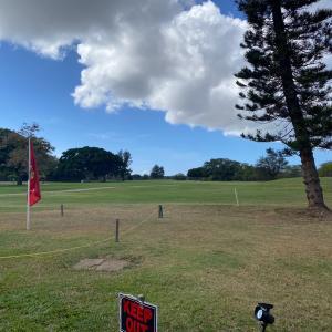 ハワイのゴルフ場のなかにあるレストラン