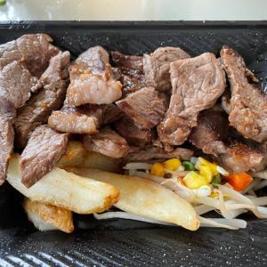 ★ハワイのフードコートを思い出しステーキのテイクアウト