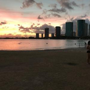 ★懐かしいハワイのサンセットの写真