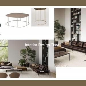 リビングのハイブランド高級家具とインテリアご相談/高級マンションインテリアコーディネート例