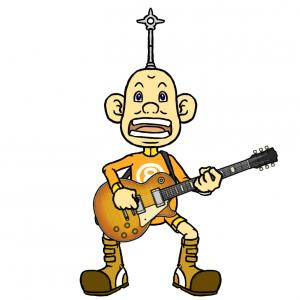 E→G→F#→Fのコードをギターで弾くハッパのおっさん