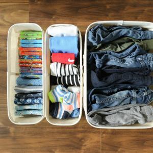 子どもが自分でお着替えできるのは何歳から?0歳〜7歳までの子ども服収納の見直し変遷