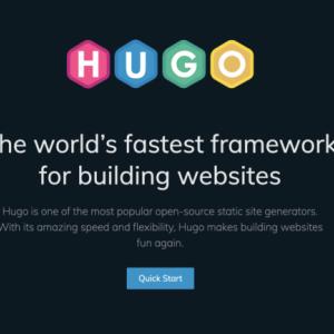 静的サイトジェネレーター「HUGO」に興味津々