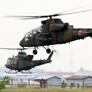 八尾空港ランウエー27エンター フォト散歩 八尾駐屯地ヘリコプター