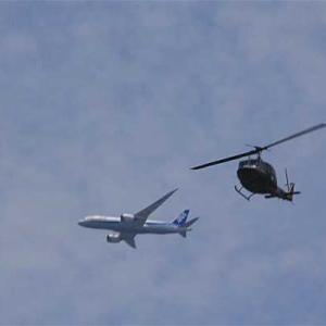 八尾空港ランウエー27エンター フォト散歩 正午前の忙しい光景