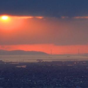 春の夕陽ウィーク 2019 明石海峡大橋