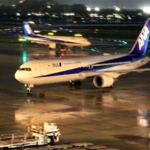 大阪空港 雨降る夜の展望デッキ 2021 09 14