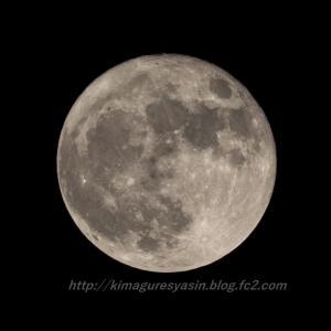 中秋の名月ではなく、翌日2日の満月