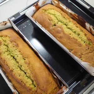 小豆の抹茶パウンドケーキ