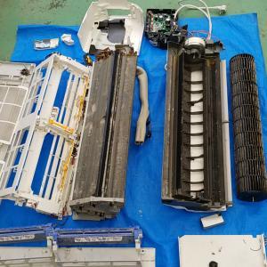 名古屋市瑞穂区新瑞橋 パナソニック製 自動フィルター清掃付きエアコン分解クリーニング