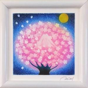シーズンだから「夜桜」アート