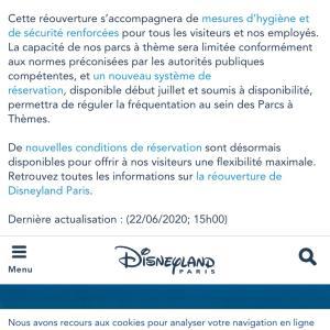 Disneyland Paris 7月15日に再開決定!