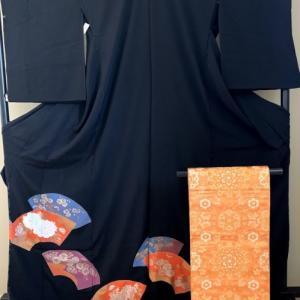 留袖と雰囲気を変えて2種の袋帯のコーディ
