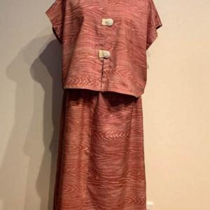 結城紬の着物からリメイク