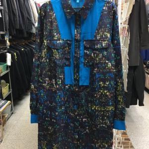 Derek Lam デレクラム シャツ ワンピース 長袖 ロング シャツ コート 羽織り 青XS