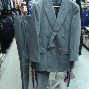 バーバリー ダブルブレスト セットアップスーツ上下 グレー (100-90-180・W91)