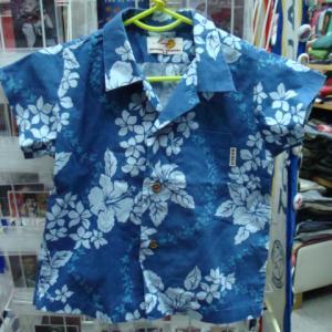 MANGO マンゴ 子供用 半袖アロハシャツ (3-4) 日本製